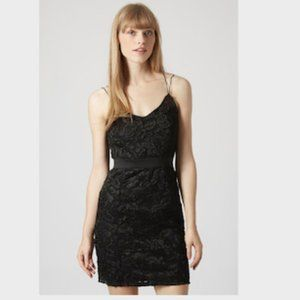 Topshop Strappy Lace Bodycon Dress